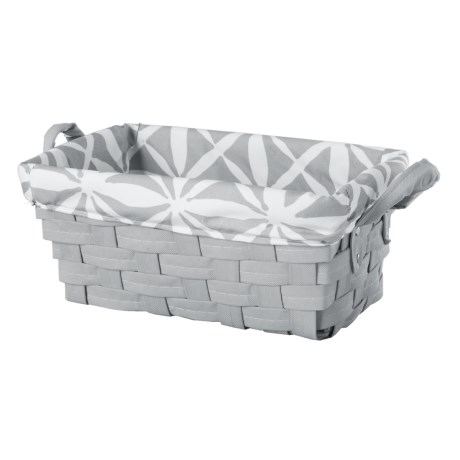 Enchante Small Lattice Rectangle Storage Bin in Grey