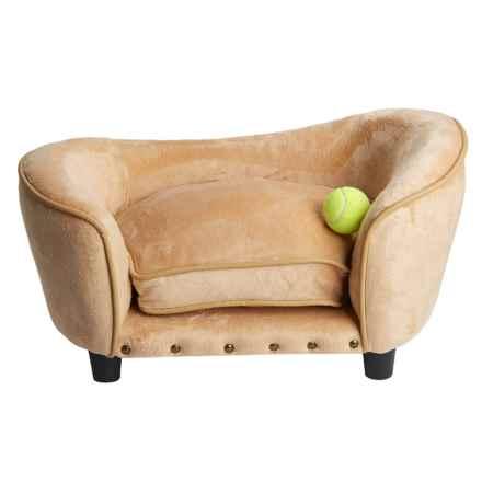 Enchanted Home Pet Ultra Plush Snuggle Dog Sofa - Small in Carmel - Closeouts