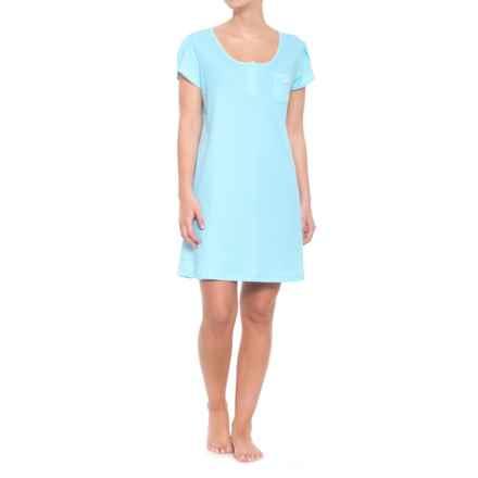 ENCORE Avalon Nightshirt - Short Sleeve (For Women) in Aqua Dot - Closeouts