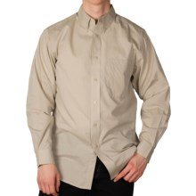 End-on-End Button-Down Shirt - Long Sleeve (For Men) in Khaki - 2nds