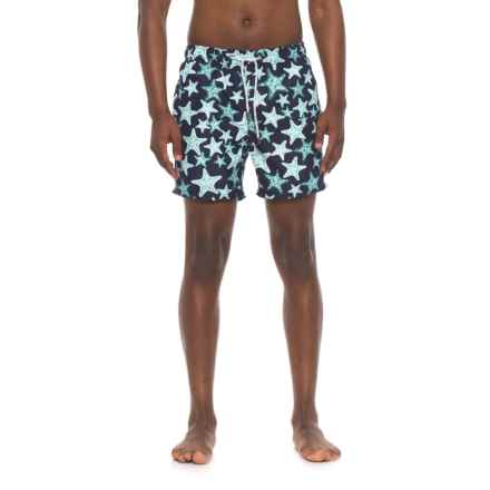 Endless Summer Starfish Printed E-Board Shorts (For Men) in Navy - Closeouts
