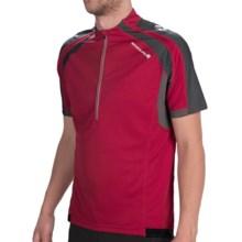Endura Hummvee Jersey Shirt - Zip Neck, Short Sleeve (For Men) in Red - Closeouts