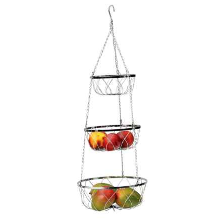 Endurance 3-Tier Hanging Basket in Silver - Overstock