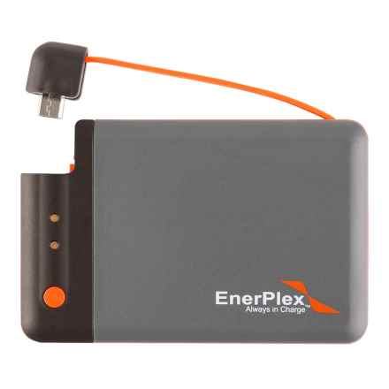 Enerplex Jumpr Mini Portable Power Bank - 1700 mAh in Grey/Orange - Closeouts