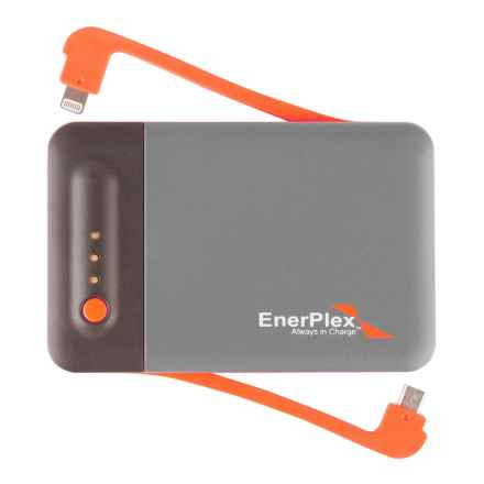 Enerplex Jumpr Stack 3 Portable Power Bank - 3200 mAh in Grey/Orange - Closeouts