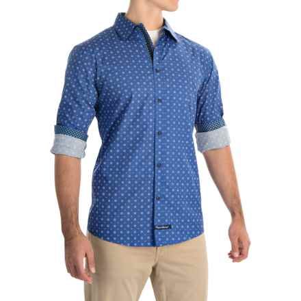 English Laundry Abstract Sport Shirt - Long Sleeve (For Men) in Chambray Floral Dot - Closeouts