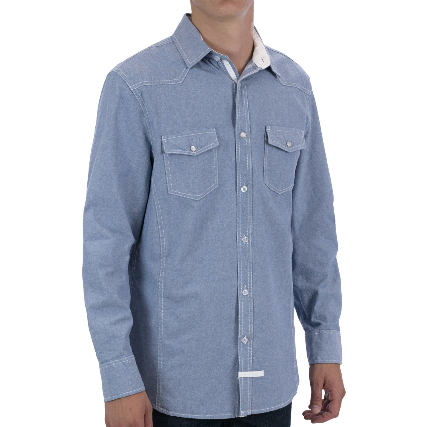 English Laundry Contrast Cuff Sport Shirt For Men 7819y