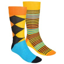 English Laundry Multi-Stripe and Argyle Socks - 2-Pack (For Men) in Blue - Closeouts