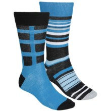 English Laundry Multi-Stripe Socks - Lightweight, 2-Pack (For Men) in Black - Closeouts