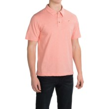 English Laundry Organic Cotton Polo Shirt - Short Sleeve (For Men) in Light Coral - Closeouts