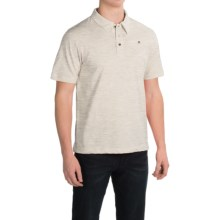 English Laundry Organic Cotton Polo Shirt - Short Sleeve (For Men) in Light Grey - Closeouts