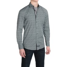 English Laundry Printed Sport Shirt - Modern Fit, Long Sleeve (For Men) in Black Abstract - Closeouts
