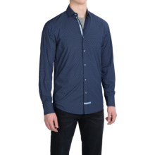 English Laundry Printed Sport Shirt - Modern Fit, Long Sleeve (For Men) in Navy Neat - Closeouts