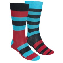 English Laundry Socks - Lightweight, Wide-Stripe, 2-Pack (For Men) in Blue - Closeouts