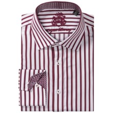 English Laundry Stripe Dress Shirt - Long Sleeve (For Men) in White/Maroon - Closeouts