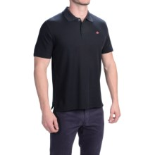 English Laundry Supima® Pique Polo Shirt - Short Sleeve (For Men) in Black - Closeouts