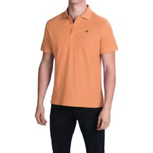 English Laundry Supima® Pique Polo Shirt - Short Sleeve (For Men) in Orange - Closeouts