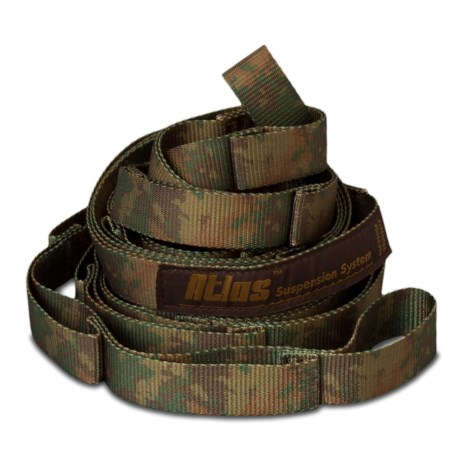 Medium image of eno atlas camo hammock straps in forest camo