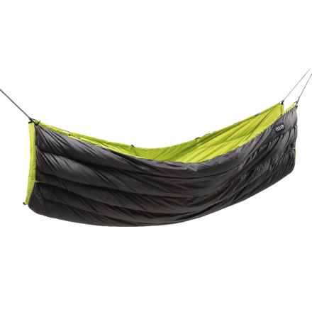 ENO Blaze Down Underquilt - 750 Fill Power in Charcoal/Lime - Closeouts