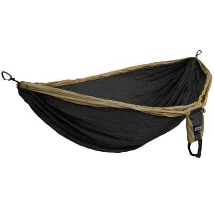 Eno Double Deluxe Hammock in Khaki/Black - Closeouts