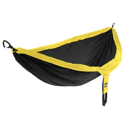 ENO DoubleNest Hammock in Black/Yellow - Closeouts