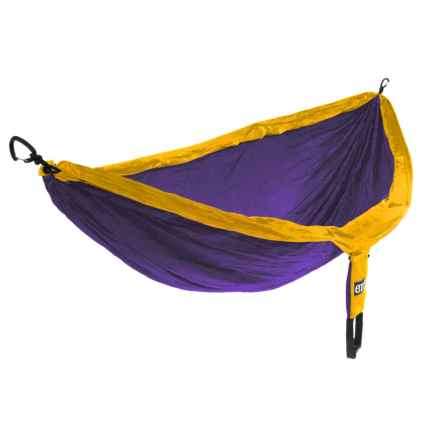 ENO DoubleNest Hammock in Purple/Marigold - Closeouts