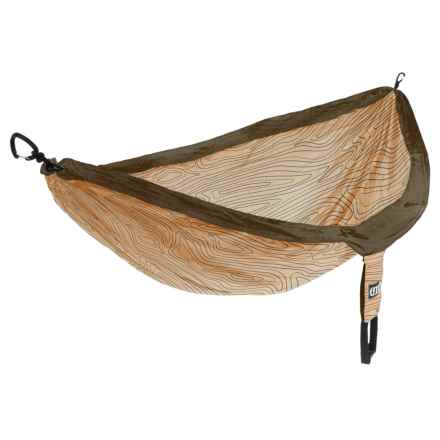 ENO DoubleNest Print Hammock in Woodgrain/Sand/Brown - Closeouts