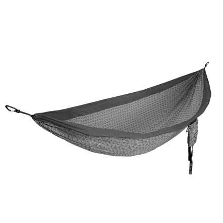 ENO Flower of Life DoubleNest Hammock in Charcoal/Grey - Closeouts
