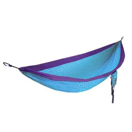 ENO Flower of Life DoubleNest Hammock in Purple/Teal - Closeouts