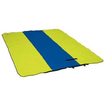 "ENO Launchpad Double Blanket - Waterproof, 5'10""x4'10"" in Royal/Lime"