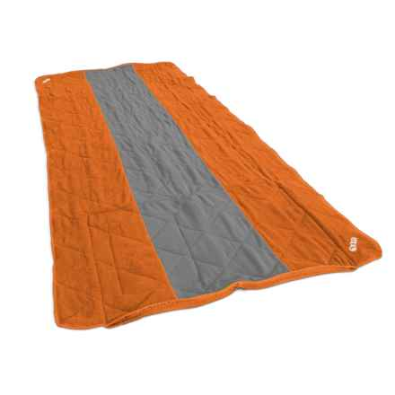 "ENO Launchpad Single Blanket - Waterproof, 5'10""x3' in Orange/Grey"