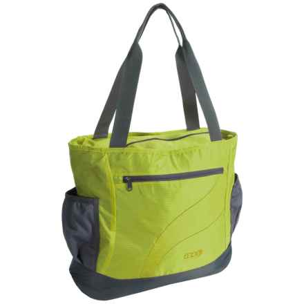 ENO Relay Festival-Yoga Tote Bag in Lime/Charcoal - Closeouts