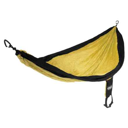 ENO SingleNest Hammock in Black/Yellow - Closeouts