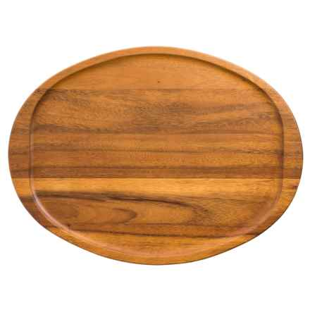 "Enrico Acacia Wood Oval Platter - 20"" in Natural - Closeouts"