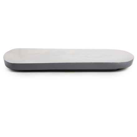 "Enrico Mango Wood Serving Board - 16x7"" in Steel Gray - Closeouts"