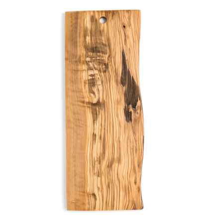 Enrico Olive Wood Live Edge Cutting Board - Large in Natural - Closeouts