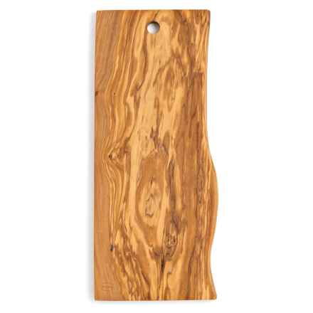 Enrico Olive Wood Live Edge Cutting Board - Medium in Natural - Closeouts