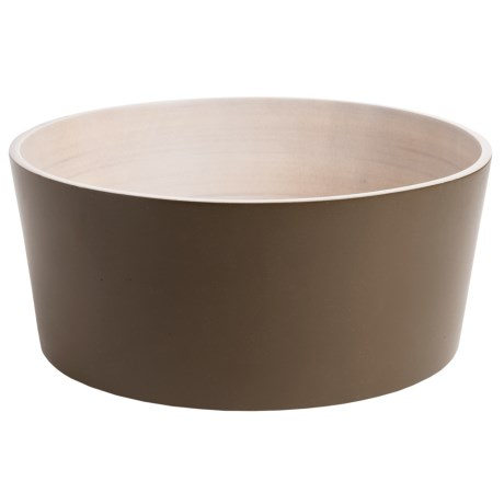 "Enrico Products Enrico Mango Wood Serving Bowl - 11"" in Olive"