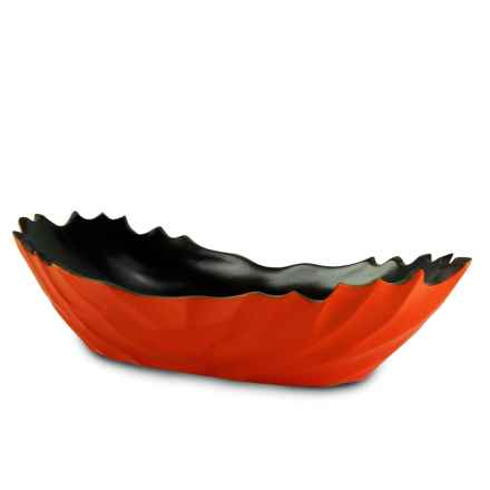 "Enrico Ropetwist Serving Dish - 18"" in Tangerine - Closeouts"