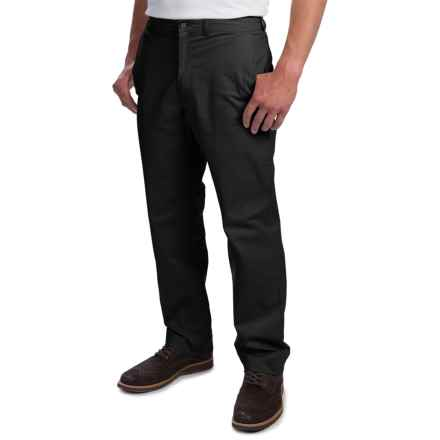Enro Stretch Cotton Pants - Flat Front (For Men) in Black - Closeouts