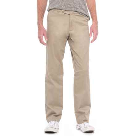 Enro Stretch Cotton Pants - Flat Front (For Men) in Stone - Closeouts