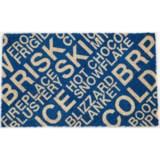 "Entryways ""Brrr…"" Non-Slip Doormat - 17x28"", Coconut Fiber Coir"