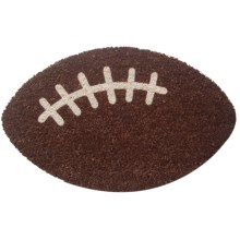 Entryways Coir Football Entry Door Mat in Dark Brown Football - Overstock
