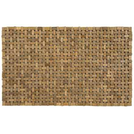 "Entryways Douglas Exotic Wood Mat - 18 x 30"" in Brown - Closeouts"