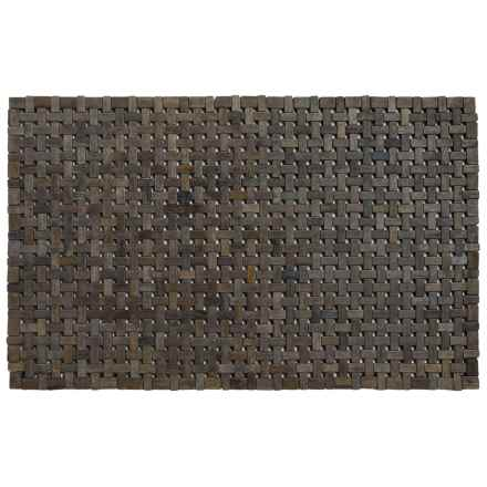 "Entryways Douglas Exotic Wood Mat - 18x30"" in Black - Closeouts"