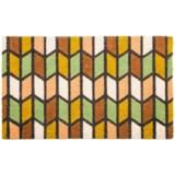 """Entryways Earth Tones Coir Doormat - 17x28"""""""