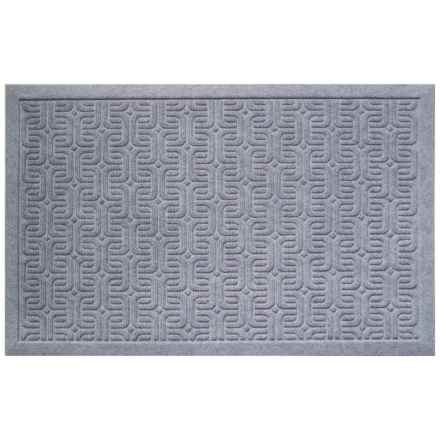 "Entryways Geometric Pattern Weather Beater Polypropylene Mat - 22x35"" in Grey - Closeouts"