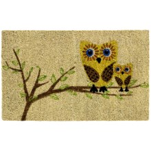 "Entryways Give a Hoot Coir Doormat - 17x28"" in Owl - Closeouts"
