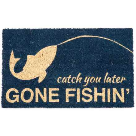 "Entryways Gone Fishing Coir Entry Mat - 17""x28"" in Gone Fishing - Closeouts"