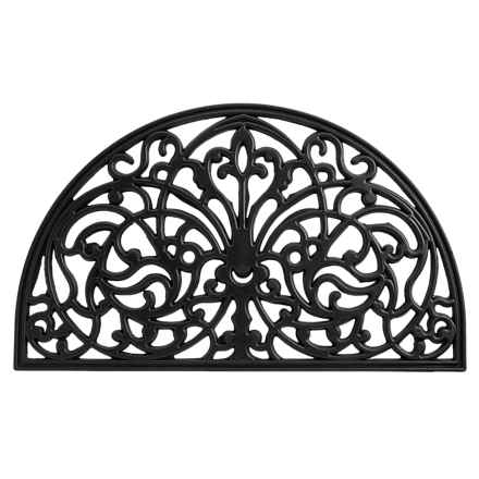 Entryways Half-Round Doormat - Recycled Rubber in Ornamental Gate - Closeouts